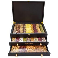 - Ahşap Üç Çekmeceli Premium Kutu