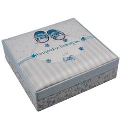 Hoşgeldin Bebeğim Mavi Kare Kutu Lokum 430 g - Thumbnail