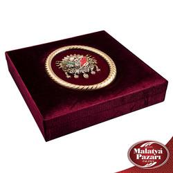 Kadife Osmanlı Tuğralı Kutu Special - Thumbnail