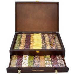 - Ahşap İki Çekmeceli Premium Kutu