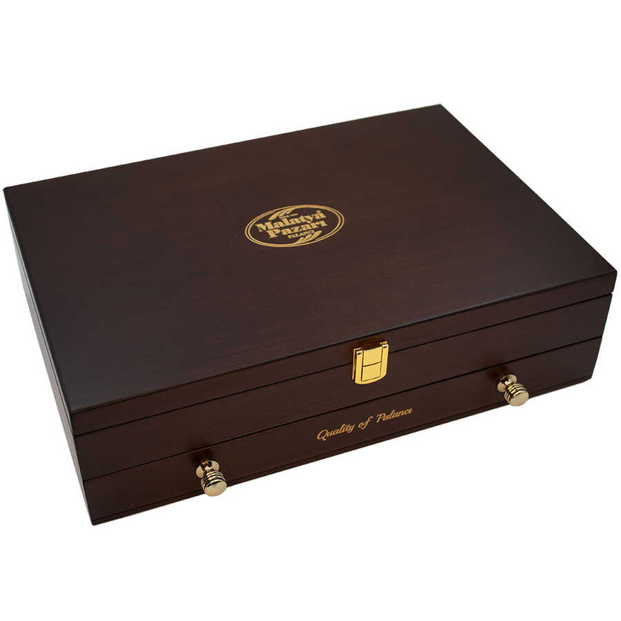 Ahşap İki Çekmeceli Premium Kutu